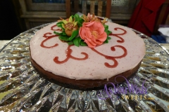 Pomegranate Mousse Choco Ganache Tarte side sm