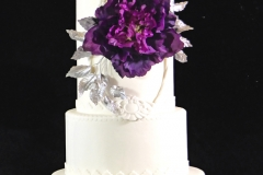 Silver Leaves Wedding Cake sm