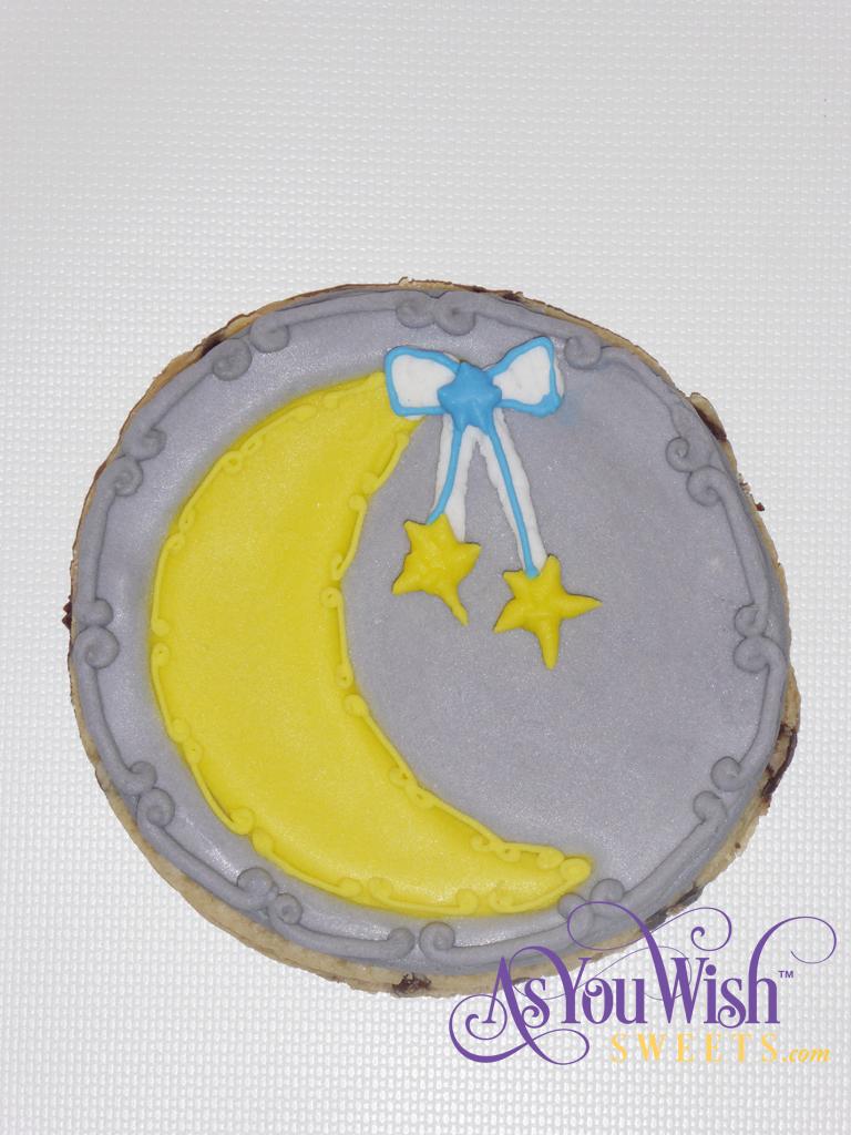 Detailed Moon hanging Stars Grey sm