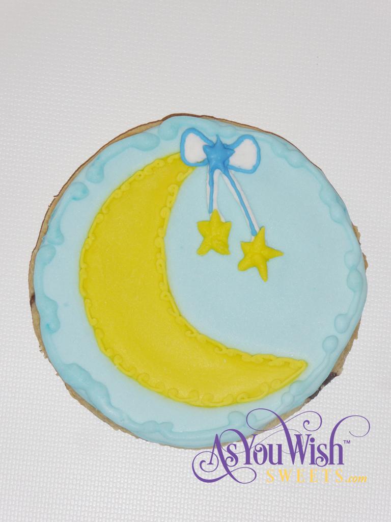 Detailed Moon hanging Stars sm