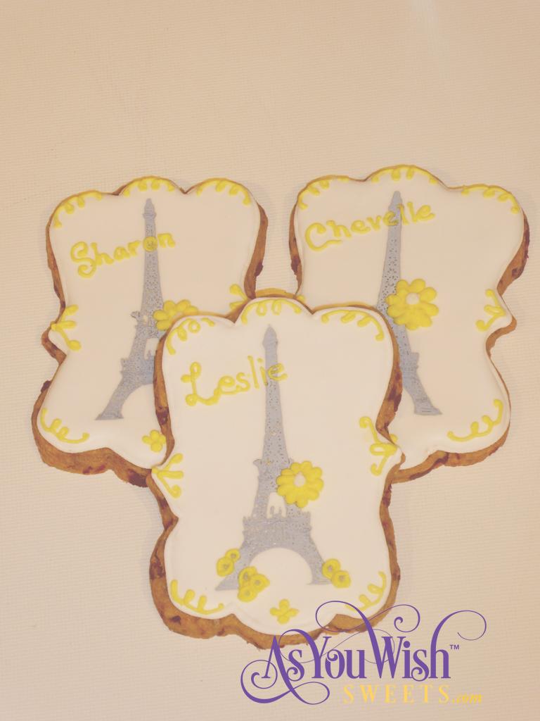 Paris Bridal Invite Cookies sm