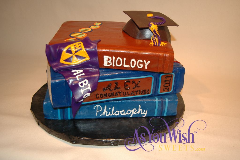 Albion Graduation Book Cake