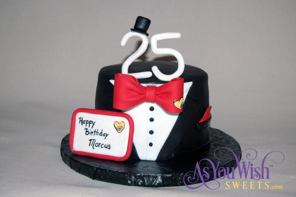 Tuxedo Cake front plaque sm