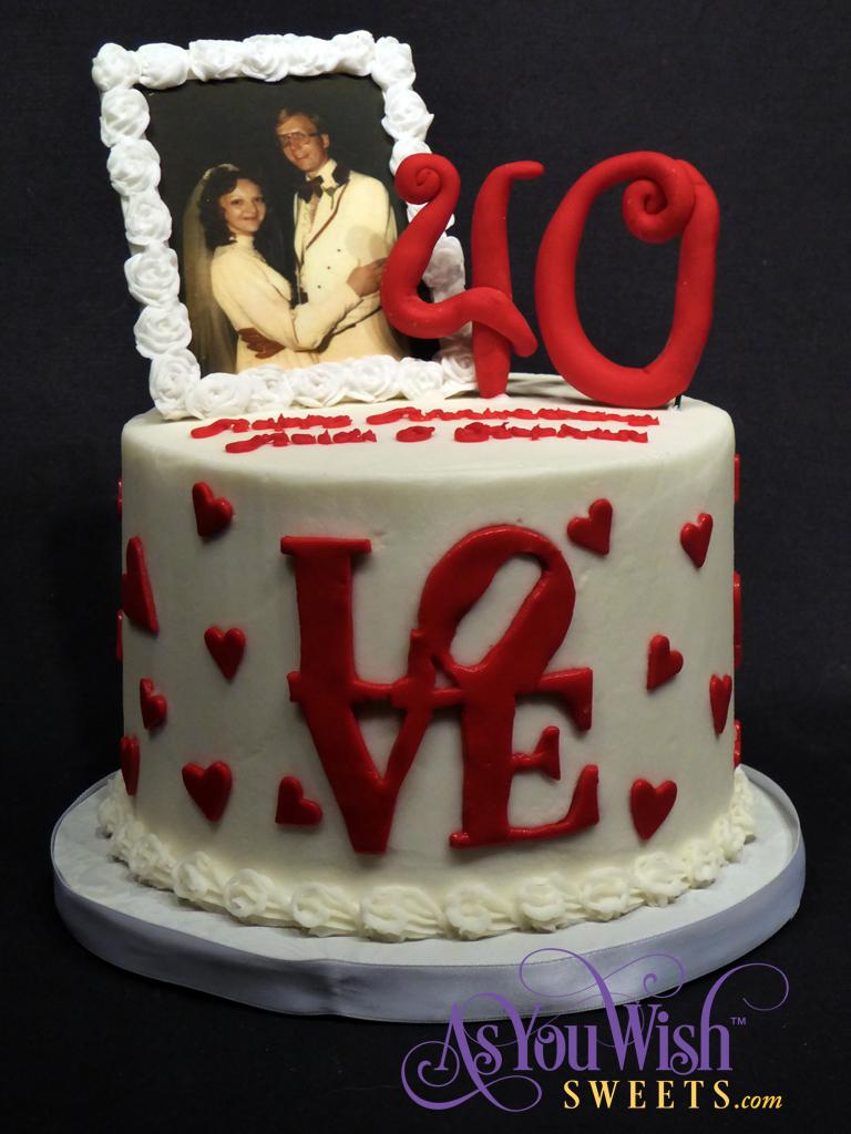 40th Anniversary Cake sm