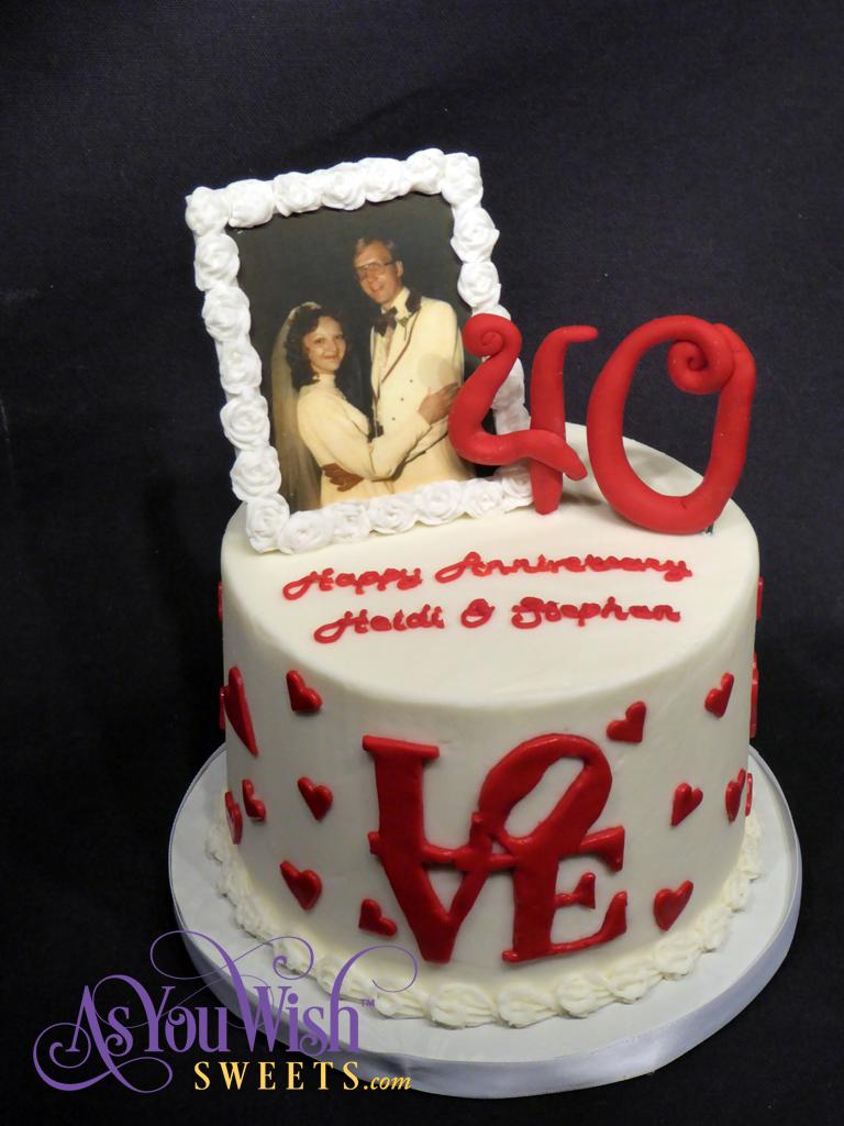 40th Anniversary Cake top sm