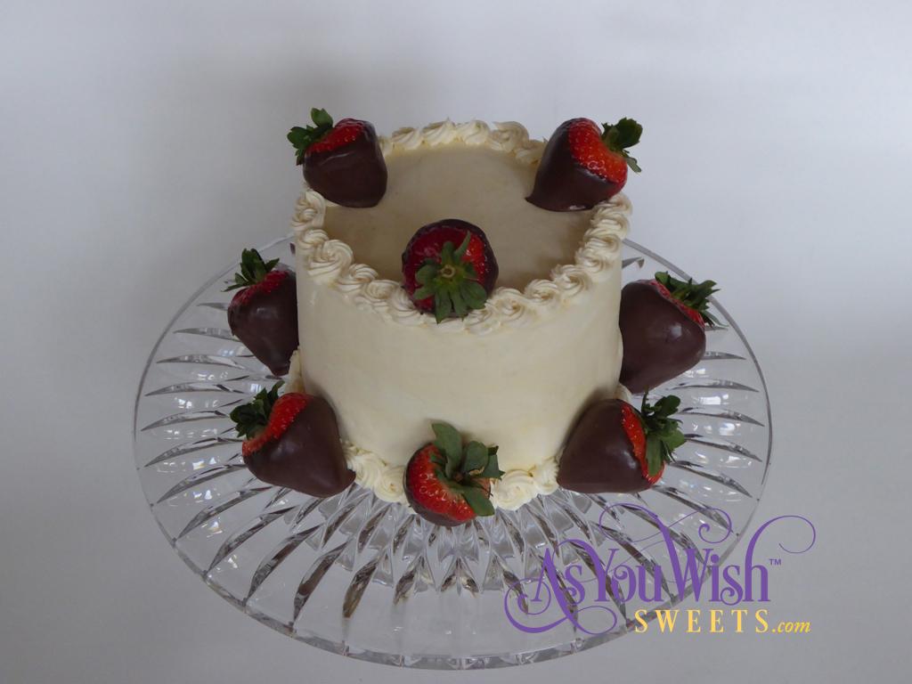 Cream Cheese Strawberry Cake