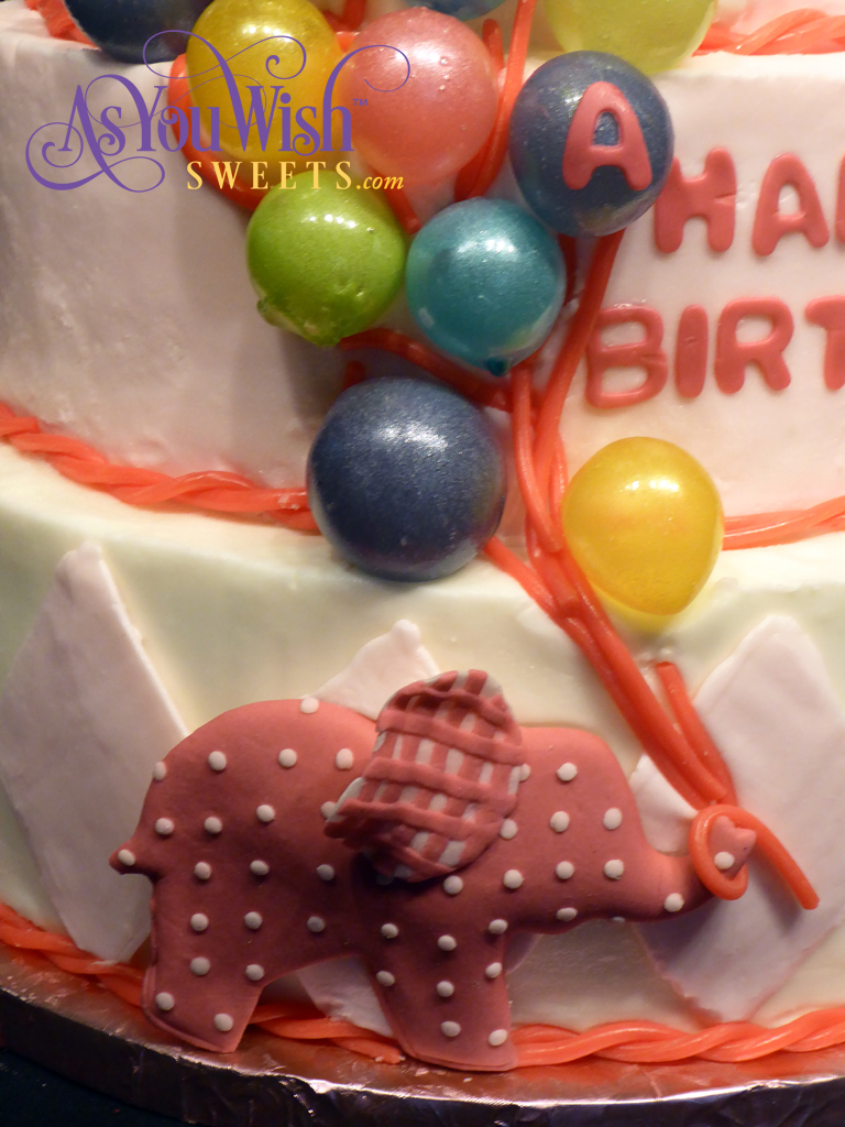 Elephant Balloon First Birthday front sm