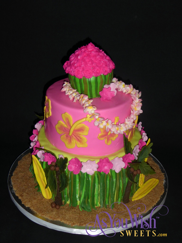 Hawaiian Birthday Cake 1 sm