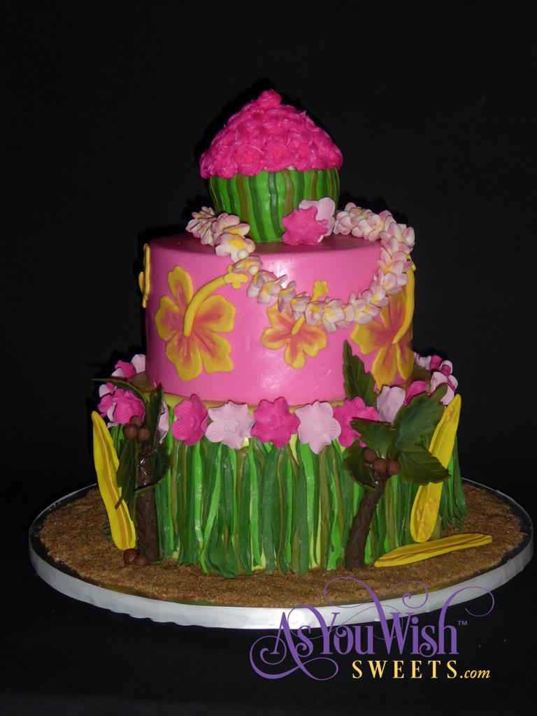 Hawaiian Birthday Cake 2 sm