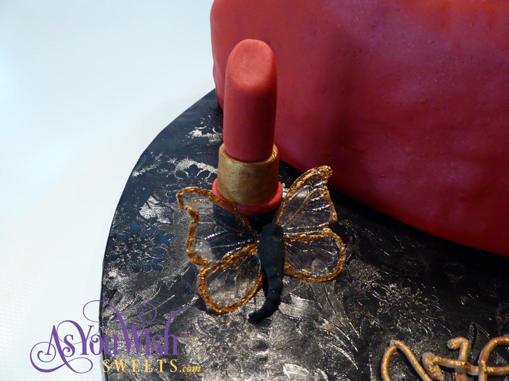 Lipstick & Gold Butterfly sm