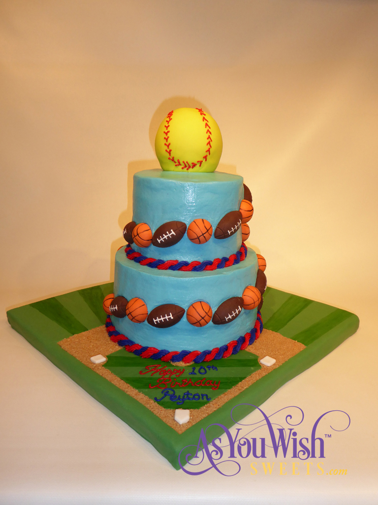 Sports Ball Birthday Cake sm