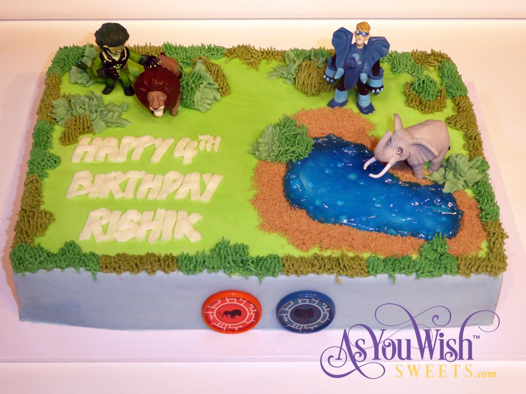 Wild Kratts 4th Birthday Cake sm