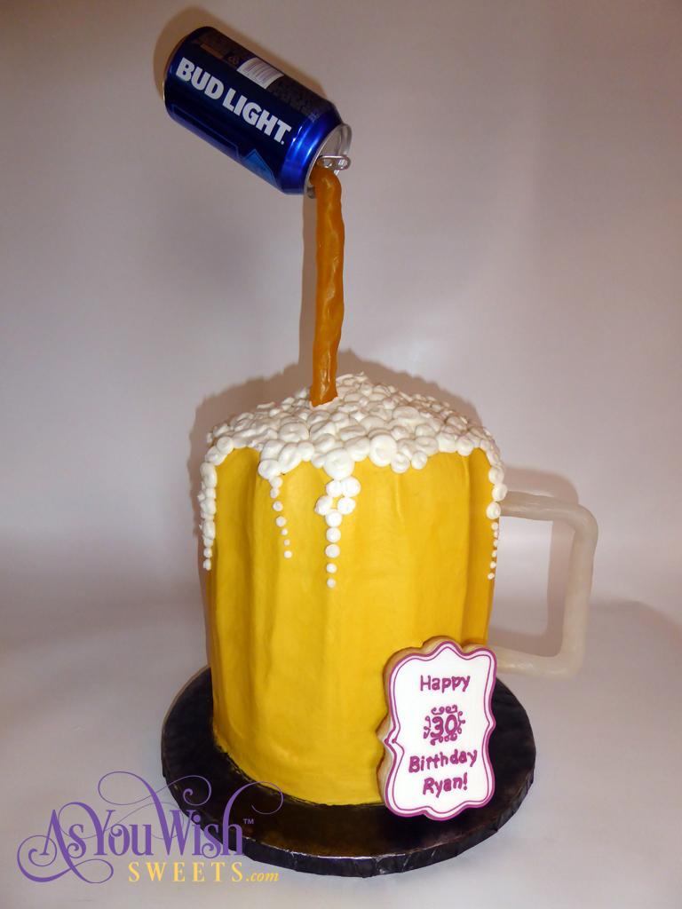 Beer Mug Birthday Cake sm