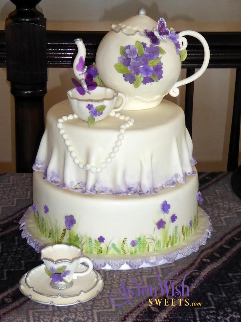 Tea Bridal Shower Cake sm