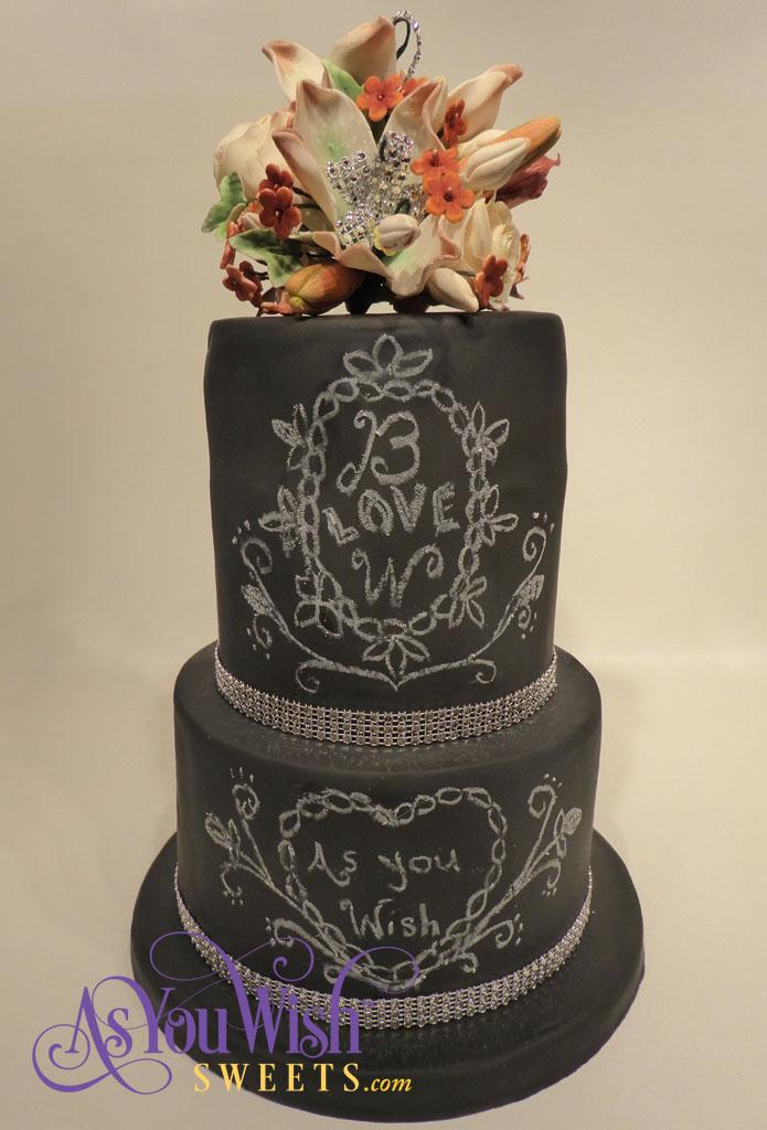 Blackboard Wedding Cake sm