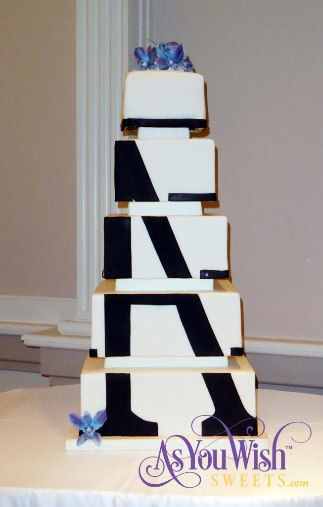 Monogram Wedding Cake crop sm