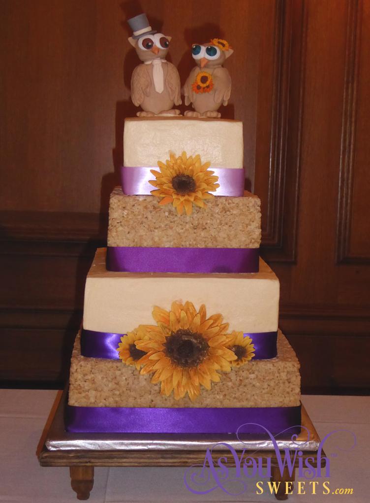 RKT Sunflower Wedding Cake 1 sm