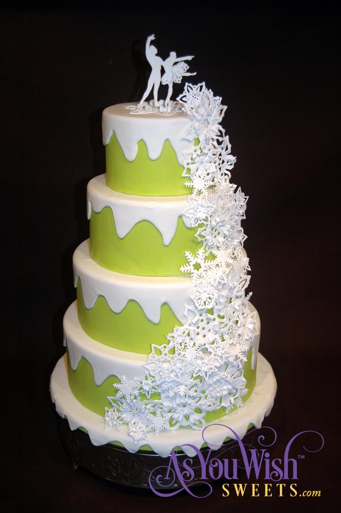 Snowflake Ballet Wedding Cake sm