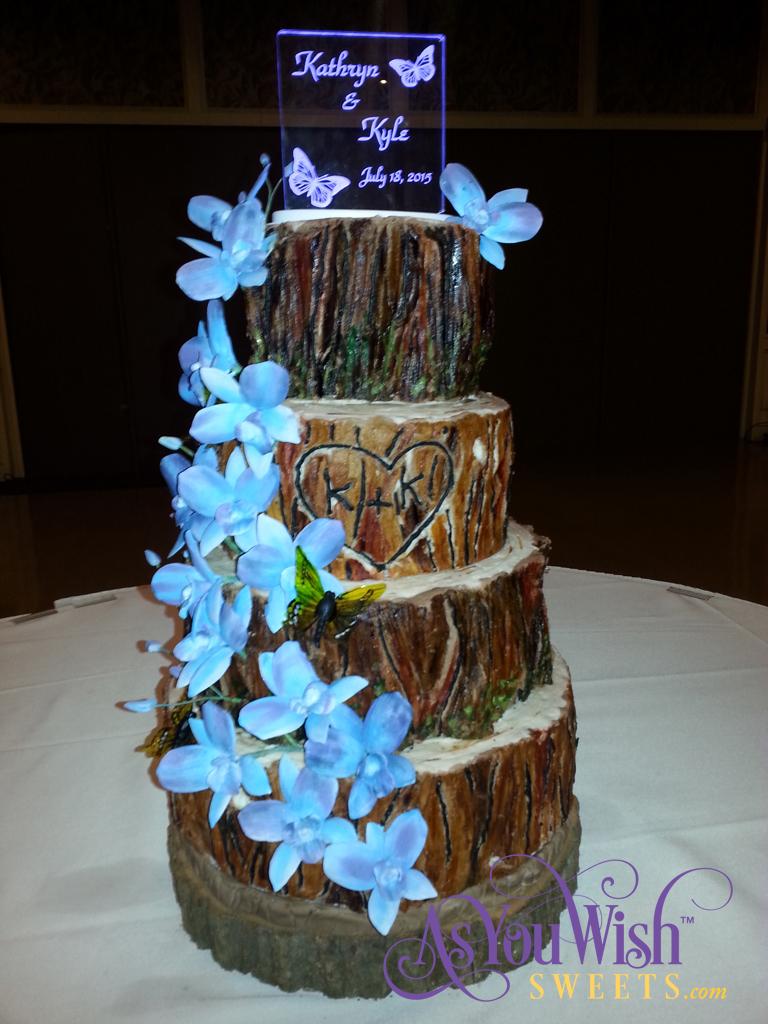 Tree Trunk Wedding Cake sm