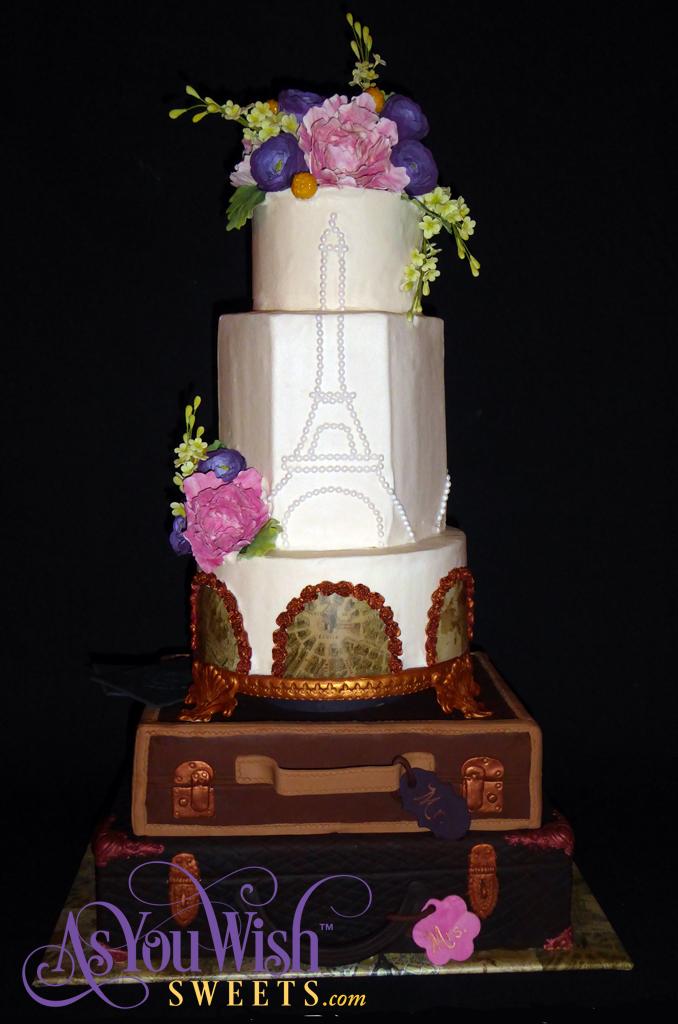 Paris Destination Wedding Cake sm