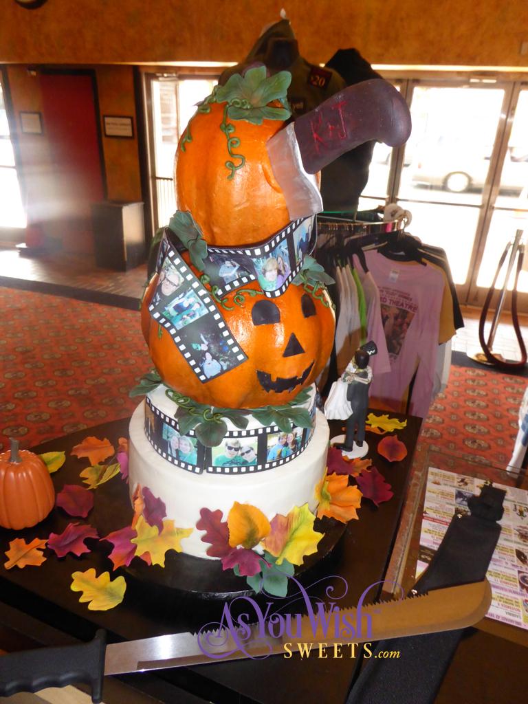 Pumpkin Film Wedding Cake Back sm