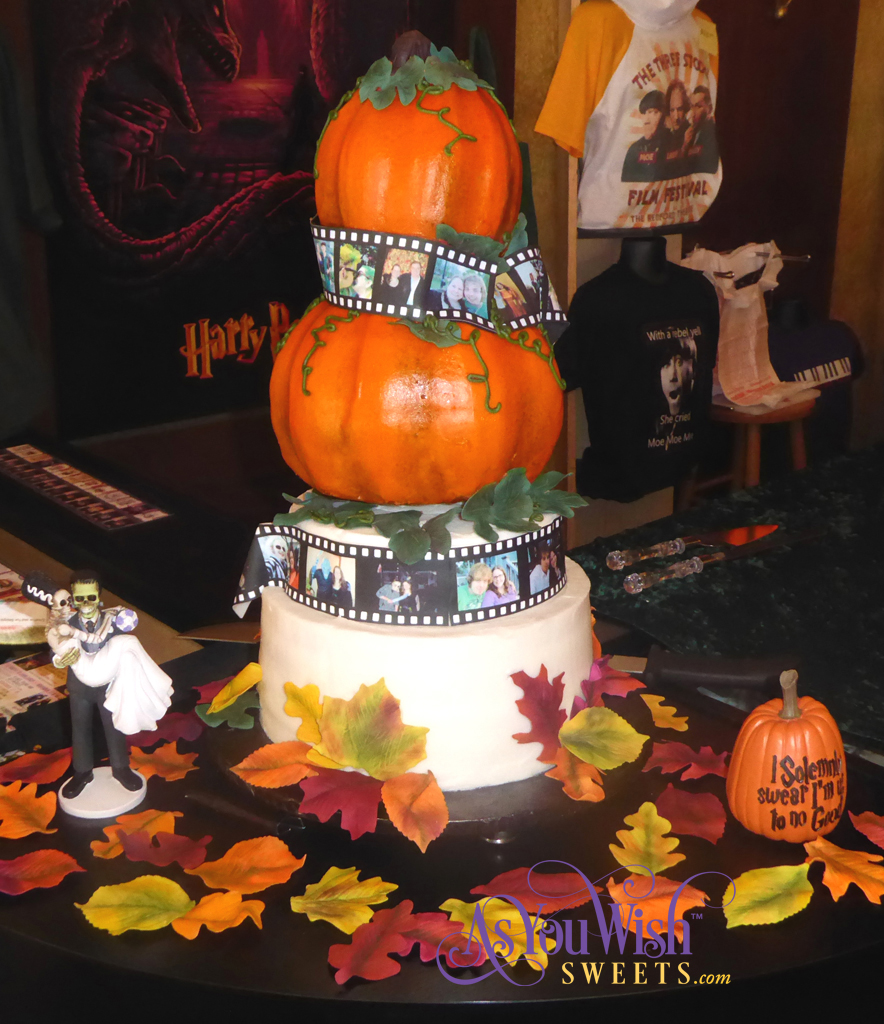 Pumpkin Film Wedding Cake Front crop sm