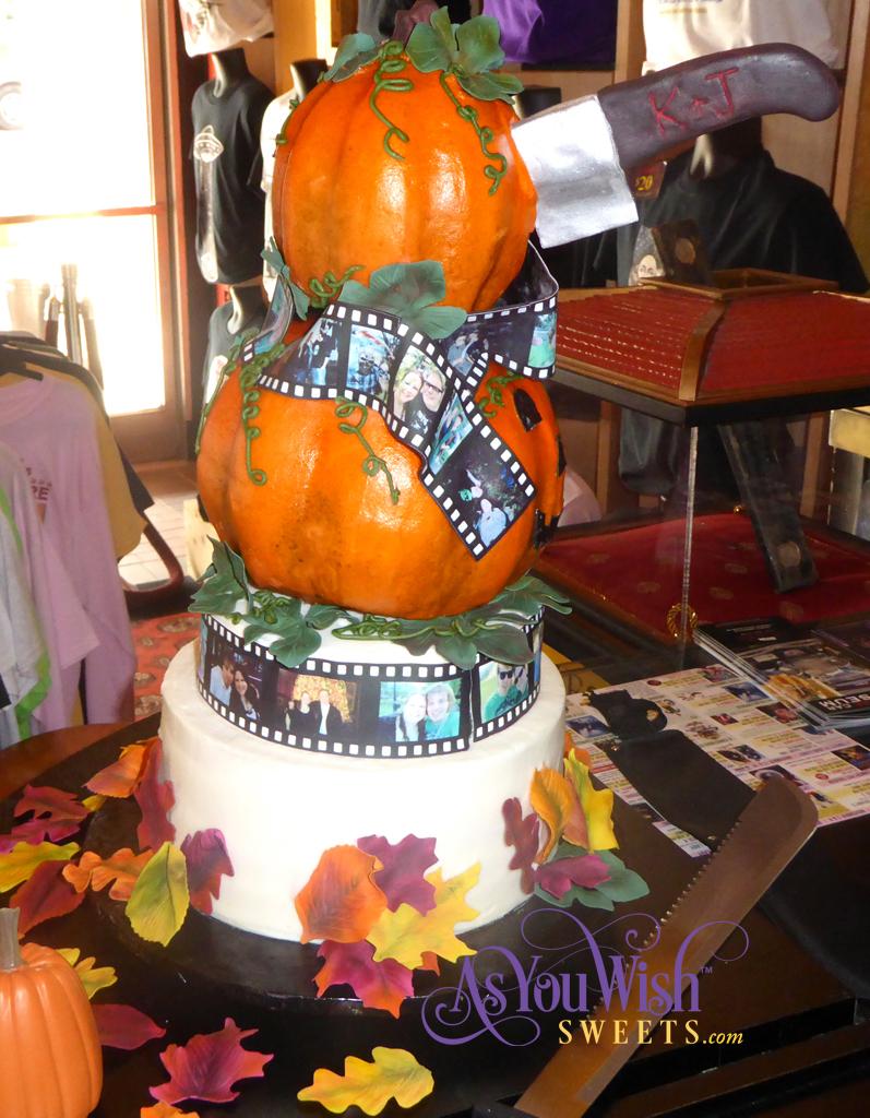 Pumpkin Film Wedding Cake Side Knife crop sm