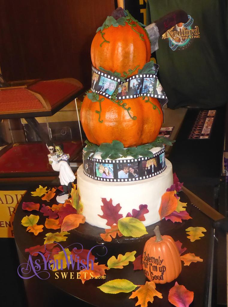 Pumpkin Film Wedding Cake Side View crop sm