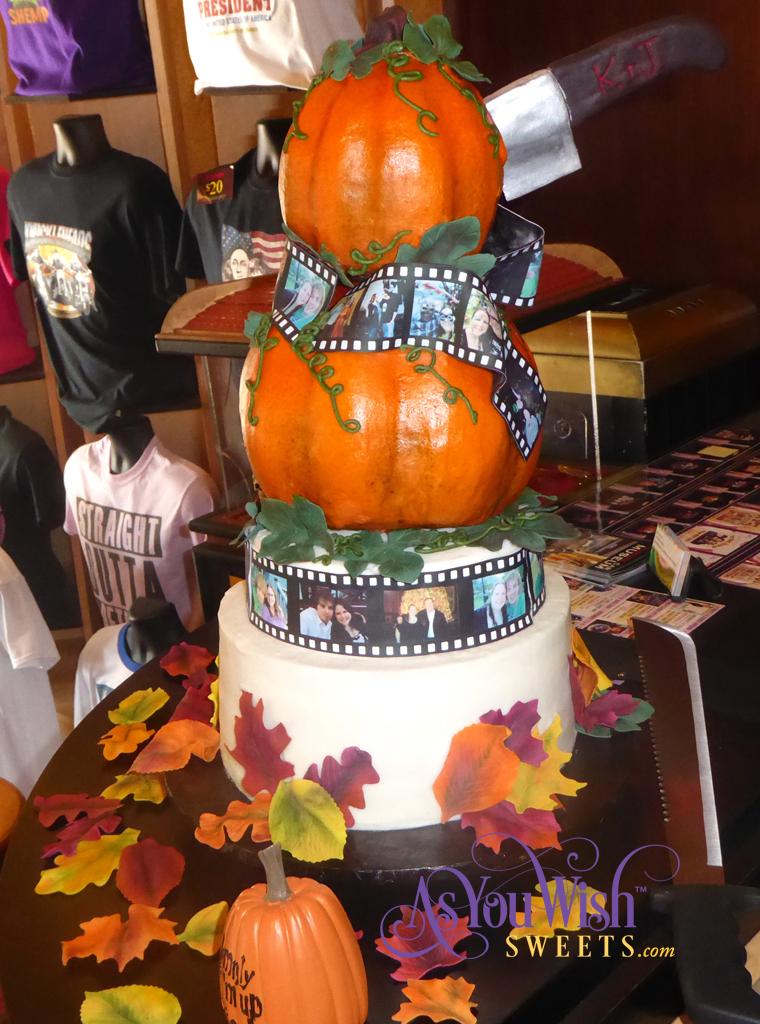 Pumpkin Film Wedding Cake Side crop sm