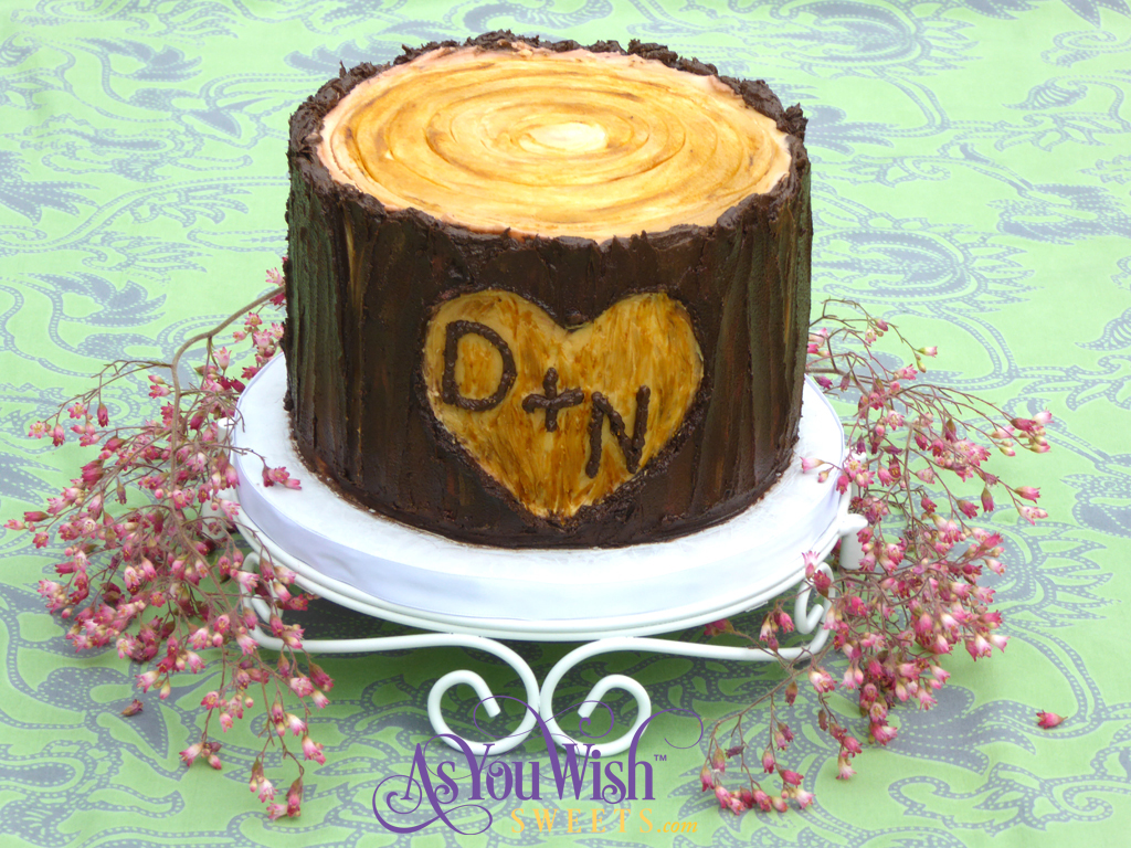Tree Stump Wedding Cake sm