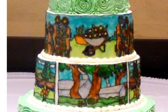 Homestead Stained Glass Wedding Cake sm