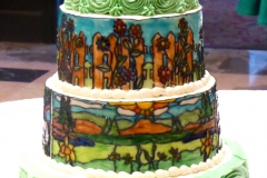 Stained Glass Wedding Cake sm