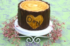 Tree Stump Wedding Cake sm